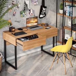Escrivaninha em Ferro e Madeira Rust