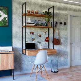 Escrivaninha Industrial Urban com gavetas
